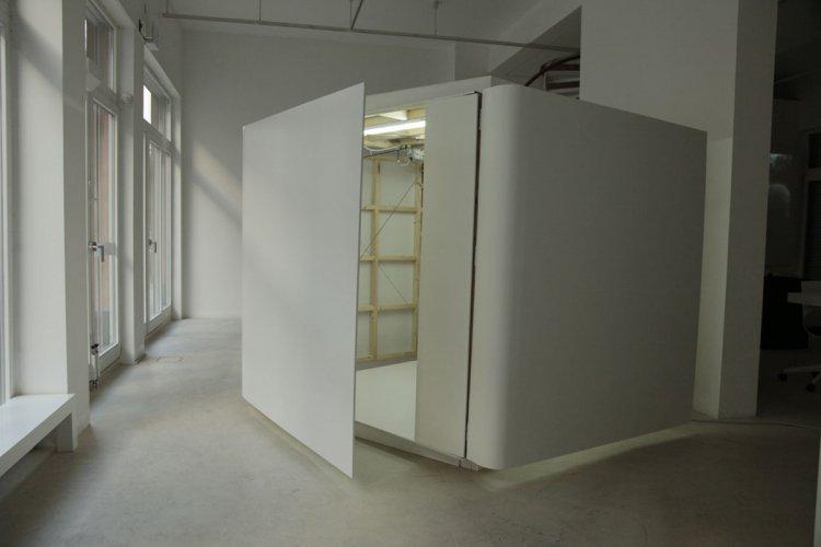 Jenny Brockmann: 'Shy Room', Wood, MDF, Motor, 2010, photo: Jenny Brockmann,©the artist