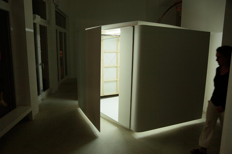Jenny Brockmann: 'Shy Room', Wood, MDF, Motor, 2010, photo: Jenny Brockmann, © the artist