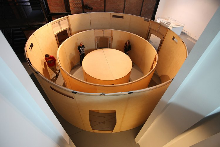 Jenny Brockmann: 'Alignment', Wood, Steel, Motors, Controller, 2011, photo: Marcin Kucewics,©the artist