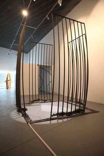 Jenny Brockmann: 'Cell', Steel, Tubes, Air, 2007, photo: Marcin Kucewics,©the artist