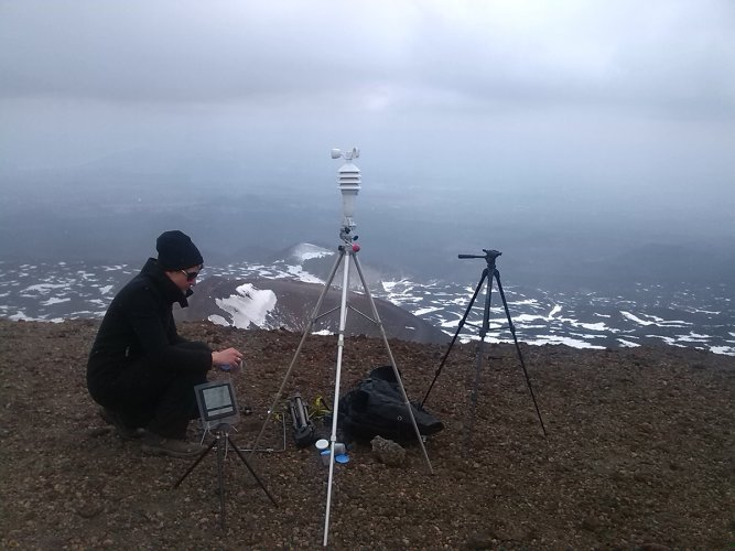 Jenny Brockmann: 'Parallel Lineup', Field Work on Etna Volcano, 2012, photo: Jenny Brockmann, ©the artist