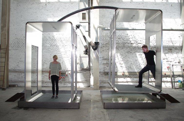 Jenny Brockmann: 'Out of Balance', Aluminum, Steel, Water, ECG, 2012, photo: Jenny Brockmann,©the artist