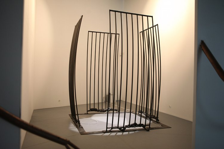Jenny Brockmann: 'Cell', Steel, Tubes, Air, 2007, photo: Marcin Kucewics, © the artist