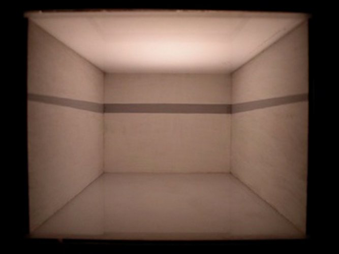 Jenny Brockmann: 'Study_Horizon', MDF, Acrylic Paint, 2007, photo: Jenny Brockmann,©the artist