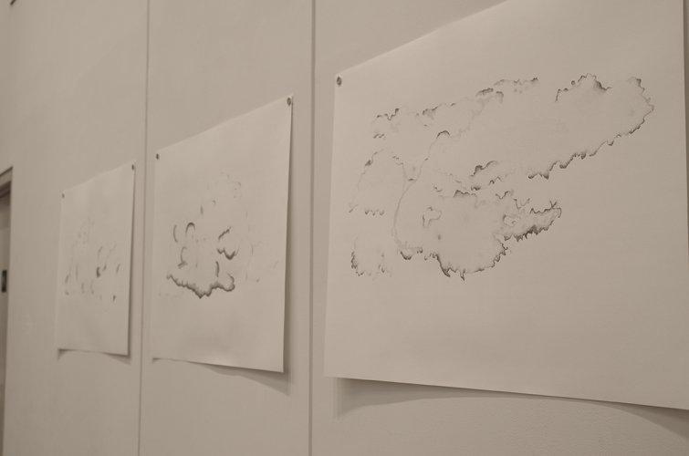 Jenny Brockmann: 'Clouds 1-3', Ink on Paper, 2014, photo: Jenny Brockmann, ©the artist